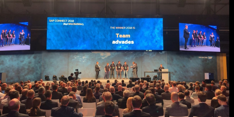 advades liefert Innovationsbombe beim Hackathon der SAP CONNECT 2018